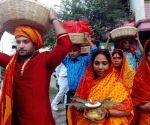 Ramvilas Paswan participates in Chhath Puja celebrations