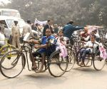 Handicapped people rally to press for their demands
