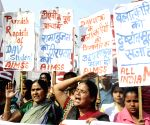 Demonstration to demand exemplary punishment for the rapists of DAV student