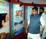 Ravi Shankar Prasad visits a photo exhibition on one year of Modi Govt.