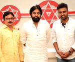 "Pawan Kalyan at ""Yettaagayya Shiva"" song launch"