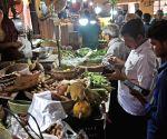 People buying vegetables during lockdown