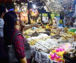 People busy shopping on the eve of Laxmi Puja