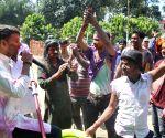 (130317) Patna: Holi celebration