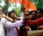People celebrate Centre's J&K move