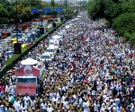 Baba Hardev Singh's funeral procession