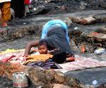 Fire breaks out at a Kolkata slum