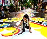 Street art - alpona