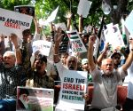 Demonstration against Israeli attacks on Gaza