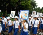 Rally  to pay tribute to Saint Teresa of Calcutta