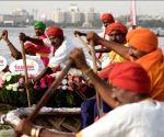 Coracle Regatta in Hussain Sagar lake