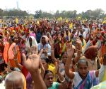 People participate in All India Kirtan and Baul Singers Association program at Sahid Minar Ground, in Kolkata on March 02nd March 2021