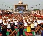 International Day of Yoga 2017 - dress rehearsal