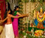 The occasion of Karnataka traditional festival Varamahalakshmi fest in Bengaluru