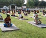 International Yoga Day preparations