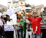Protest against shortage of electricity