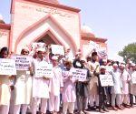 Demonstration against death sentence to Kulbhushan Jadhav