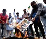 People protest against brutal killing of BSF trooper by Pakistan