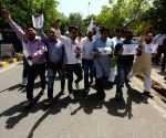 Protest against death sentence to Kulbhushan Jadhav