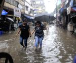 Heavy rains leave streets waterlogged