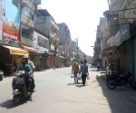People step out to buy essential commodities during lockdown