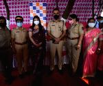 Woman police celebration
