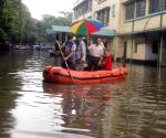Rafts on Kolkata streets