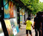 SRI LANKA COLOMBO GREEN PATH ART SHOWS RETURN