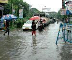 Water logged streets of Kolkata