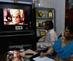 People watch 'Ramayan' during lockdown