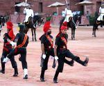 President Pranab Mukherjee during ceremonial change of guard