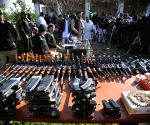 PAKISTAN PESHAWAR SEIZED WEAPONS