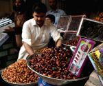 A vendor arranges dates