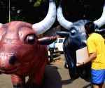 PETA demonstration against Jallikattu