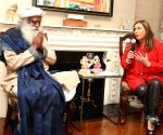 Jersey City (US): Sadhguru during a programme