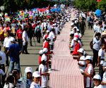 CAMBODIA-PHNOM PENH-LONGEST HAND WOVEN SCARF-GUINNESS WORLD RECORD