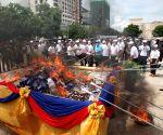 CAMBODIA PHNOM PENH DRUG BURNING