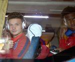 U17 WC - English players arrive