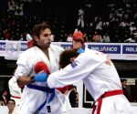 Players of  England and Australia in action during 6th Word Gojukai Karate Championship