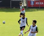 S. Korea prepare for World Cup finals in Russia