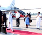 Modi reaches Ahmedabad to inaugurate, lay stones of 21 projects at Kevadiya