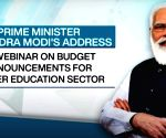 Free Photo: PM Modi addresses webinar on implementation of Budget in education sector