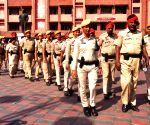 Police conduct flag march ahead of Diwali