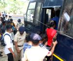 Goa : Police detained Students and other activists who were protesting to demand postponing of Board exams outside the CMs residence at Altinho Panaji on Monday,