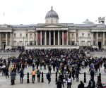 Vegan activists turn London's Trafalgar Square fountains red
