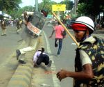 Police baton charged students