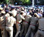 TNGOs and APNGOs Clash at at Andhra Secretariat