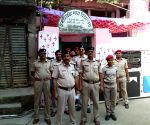 2019 Lok Sabha elections - Police personnel patrol polling booths