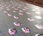 Police remove posters of Macron pasted on Mumbai road
