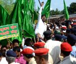 RJD's demonstration against Srijan scam